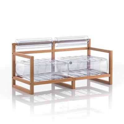 Canape Yoko Wood   Transparent