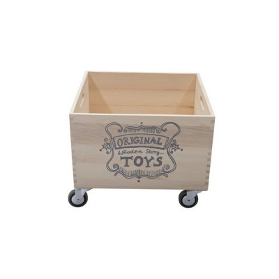 Storage Crate Wheels 2   Wooden Story