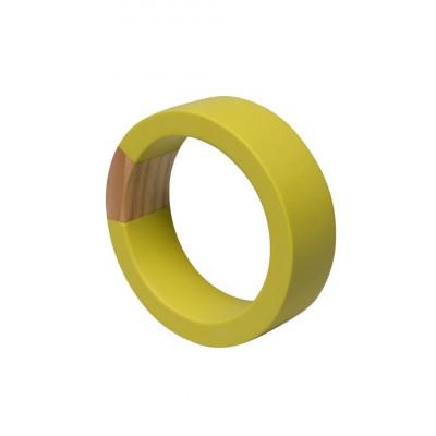 Holzintarsien Armreif   Säure Gelb