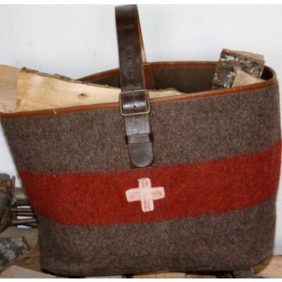 Holzscheit-Tasche