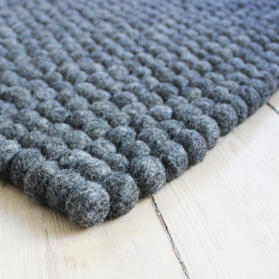 Rechteckiger Teppich | Holzkohlegrau