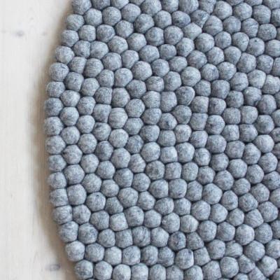 Runder Teppich | Stahlgrau