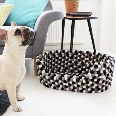 Haustierkorb | Schwarz-Weiß