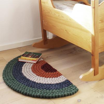 Regenbogen-Teppich | Grün