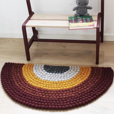 Regenbogen-Teppich | Rot