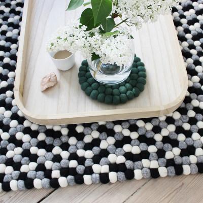 Rechteckiger Teppich | Schwarz-Weiß