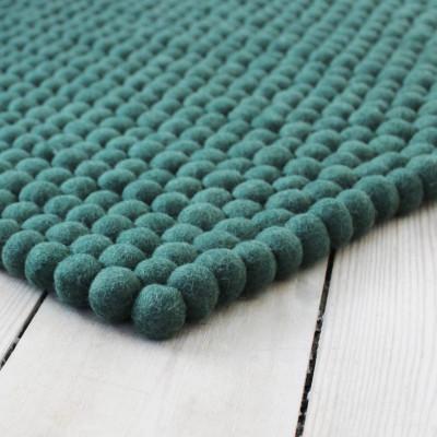 Rechteckiger Teppich | Grün
