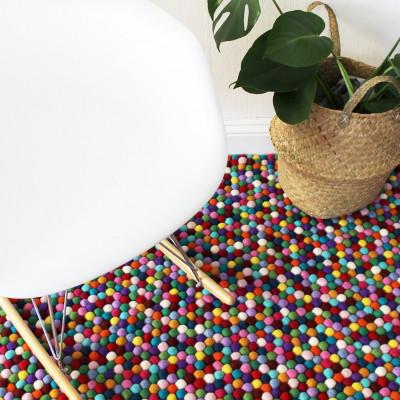 Rechteckiger Teppich | Mehrfarbig
