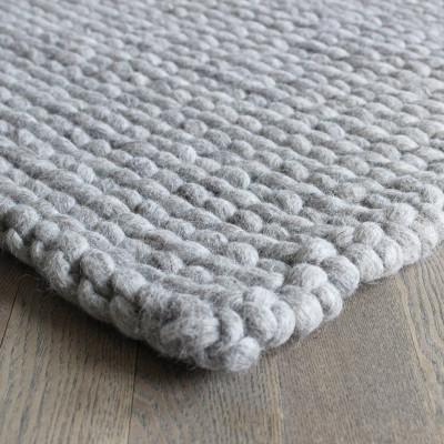 Rechteckiger Teppich | Sandbraun