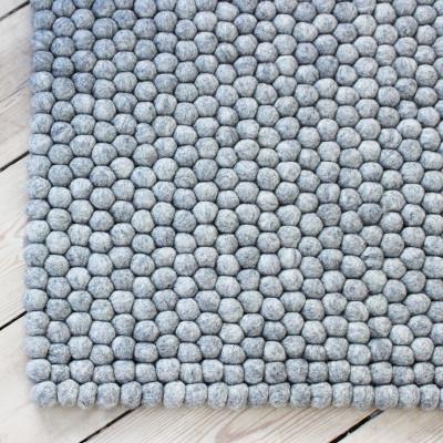 Rechteckiger Teppich | Stahlgrau