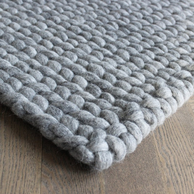 Rechteckiger Teppich | Grau