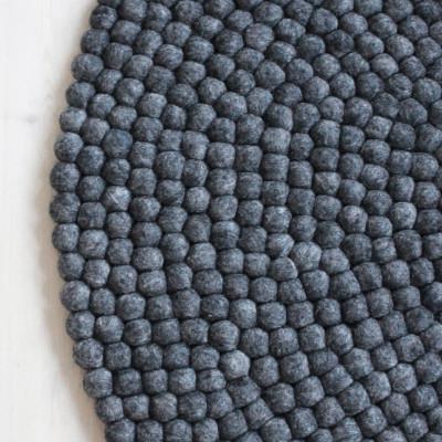 Runder Teppich | Holzkohlegrau