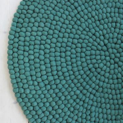 Runder Teppich | Waldgrün