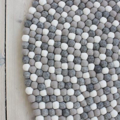 Runder Teppich | Hellgrau