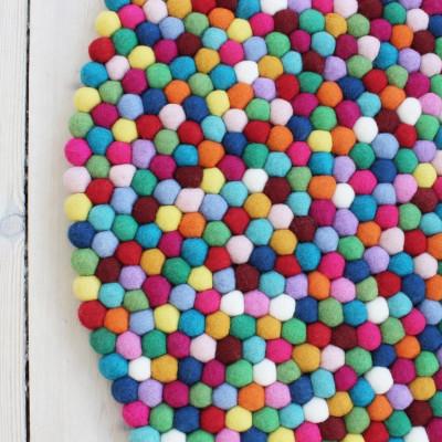 Runder Teppich | Mehrfarbig