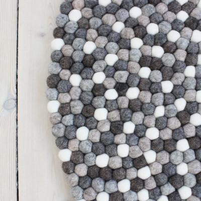 Runder Teppich | Naturwolle