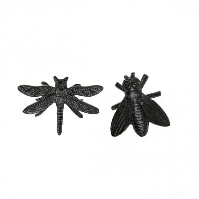 Satz mit 2 dekorativen Insekten