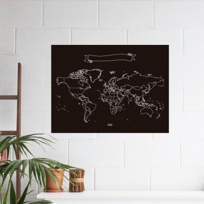 Chalk Map XL | World