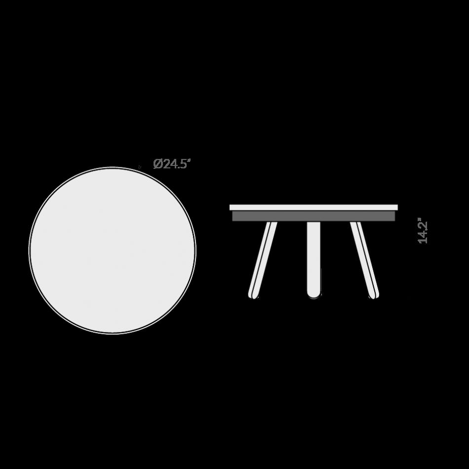 Coffee Table with Storage Space Batea Medium | Black