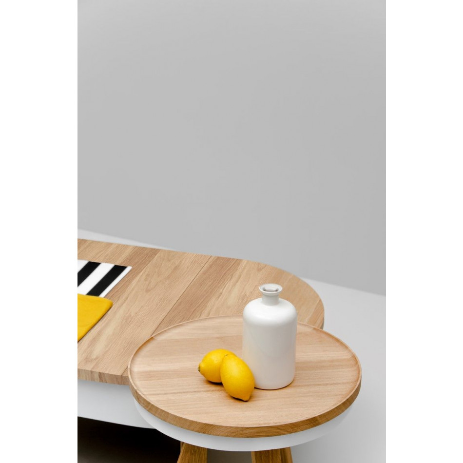 Coffee Table with Storage Space Batea Large | Oak & White