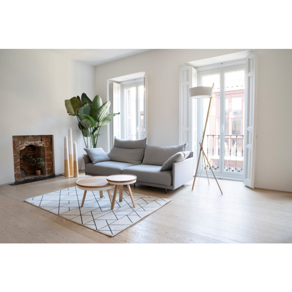 Coffee Table with Storage Space Batea Medium   Oak & White