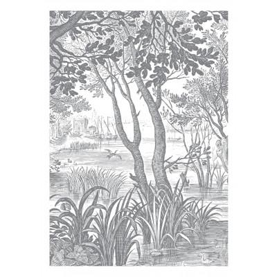 Wallpaper Engraved Landscapes 4 Sheets