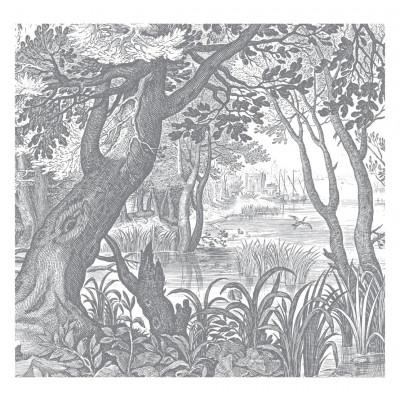 Wallpaper Engraved Landscapes 6 Sheets