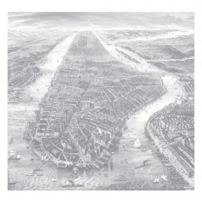 Wallpaper Engraved Landscapes New York 6 Sheets