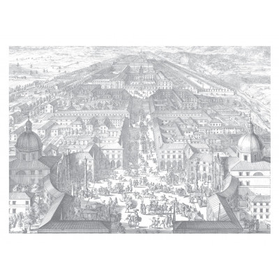 Wallpaper Engraved Landscapes 8 Sheets