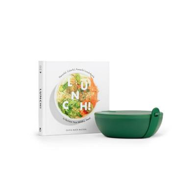 MITTAGESSEN! Set Plastik | Buch + Die Portiersschüssel Grün