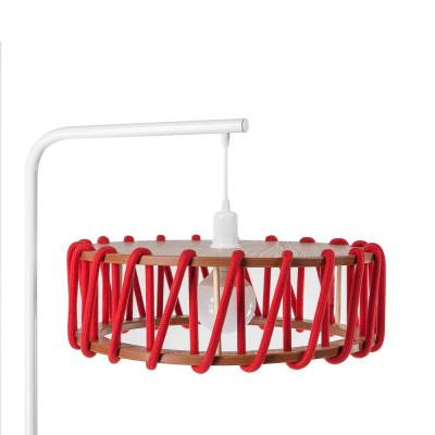 Stehleuchte Macaron 45 cm | Weiß / Rot
