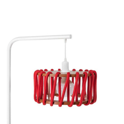 Stehleuchte Macaron 30 cm | Weiß / Rot