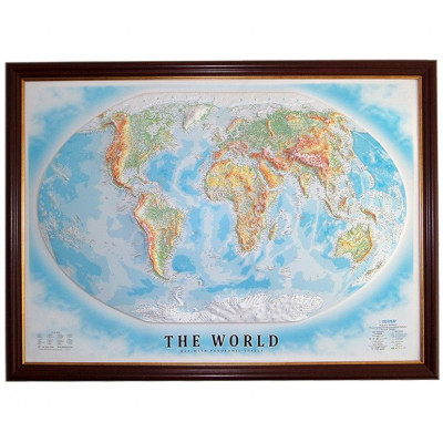 Decorative 3D Map with Panorama Effect   World