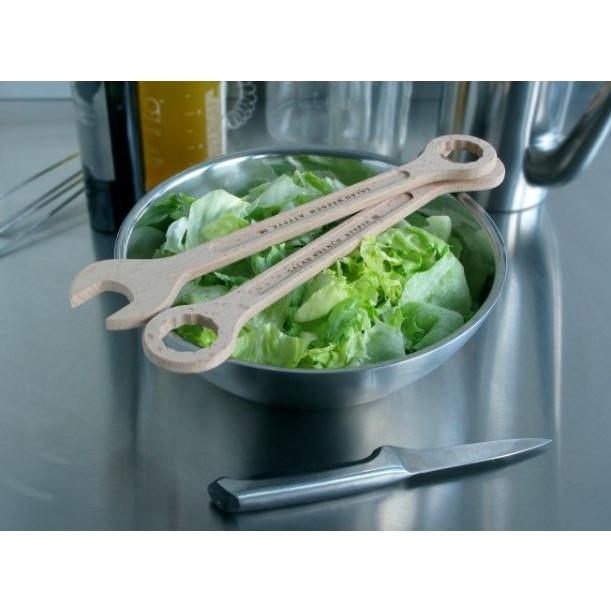 Den Salat befestigen | Satz mit zwei Schraubenschlüsseln