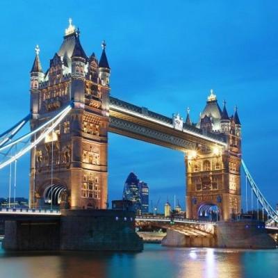 Wall Stickers (8 parts, 366 x 254 cm)   London Tower Bridge