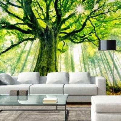 Wall Stickers (4 parts, 366 x 254 cm)   Greenery Wisdom
