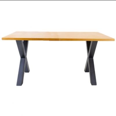 Breazz Leder Tisch X-Rahmen | Cognac - 160x80cm