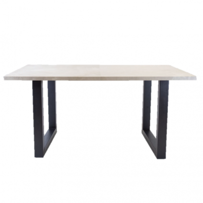 Breazz Leder Tisch U-Rahmen | Grau - 160x80cm