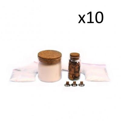 Nachfüllung für Kerzen   10er-Pack