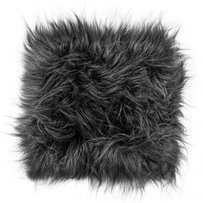 Chair Pad Icelandic Lambskin   Graphite Long Hair