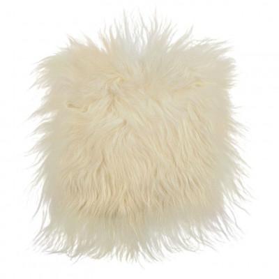 Chair Pad Icelandic Lambskin   White Long Hair