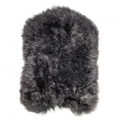 Chair Pad Icelandic Lambskin Bunny Shape   Graphite Short Hair