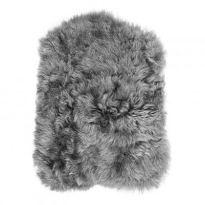 Chair Pad Icelandic Lambskin Bunny Shape   Grey Brisa Short Hair