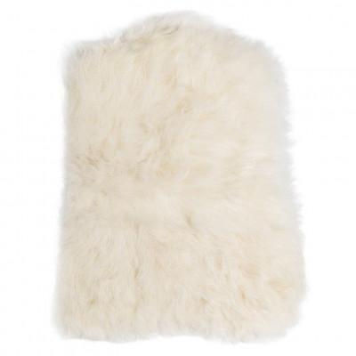 Chair Pad Icelandic Lambskin Bunny Shape   White Short Hair