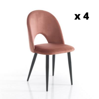 Stuhl Nail Satz von 4 | Rosa