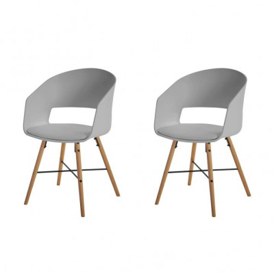 Stühle Louis 2er-Set | Grau