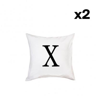 2er-Set Kissenbezügen | X