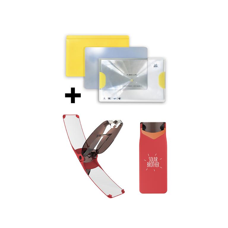 Solar-Feuerstarter Suncase Gear | Rot