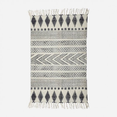 Teppich Block | 230 x 160 cm | Schwarz & Grau