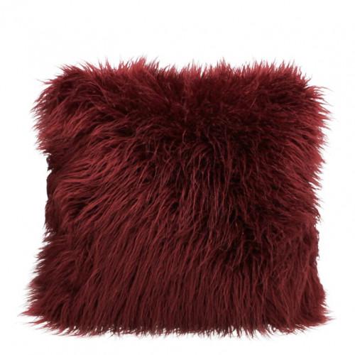 Fluffy Gevuld Cushion 45 x 45 cm | Wijnrood